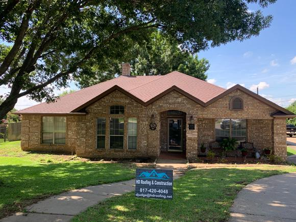 Home renovation in Burleson with new roof